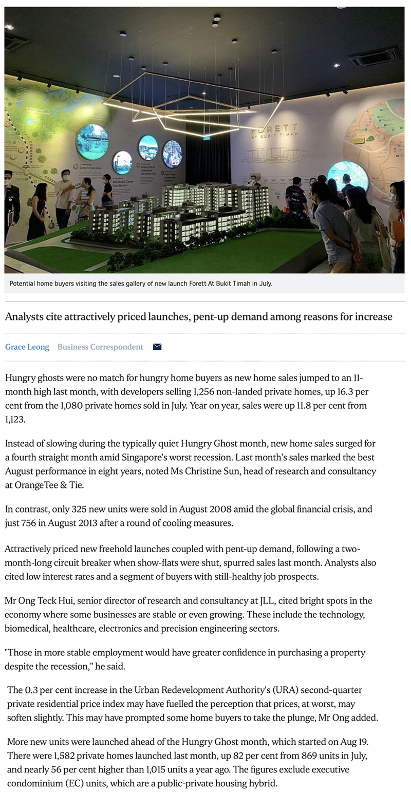 Normanton Park - New home sales surge to 11-month high in August 1