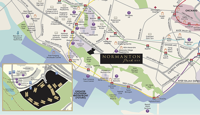 Normanton Park Location Map Singapore